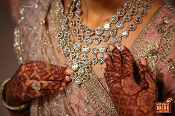 Layered diamond necklace for bride