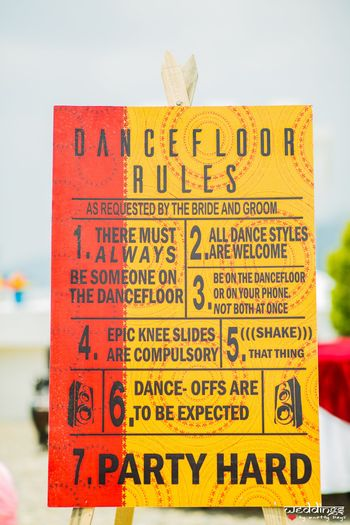 Floral printed dance floor rules