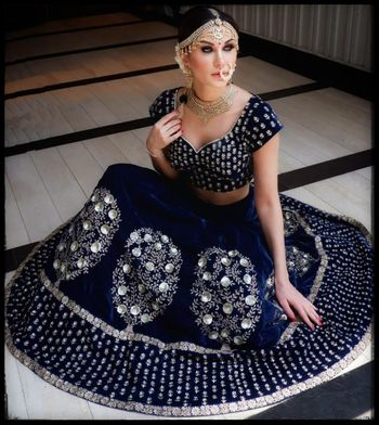 Stunning royal blue lehenga