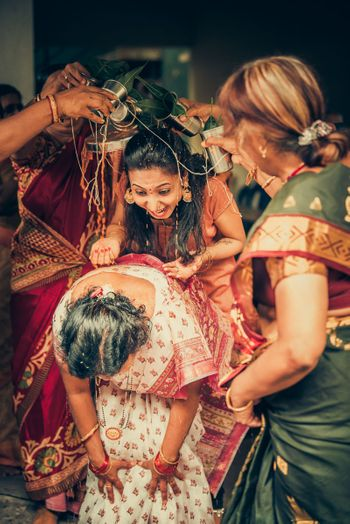 Fun bridesmaid photos in South Indian wedding