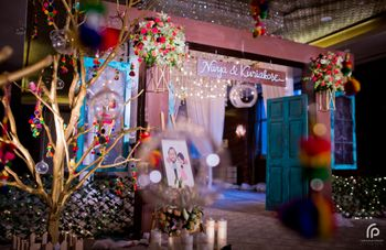 Photo of Colourful Entrance Decor with Wishing Tree and Doors