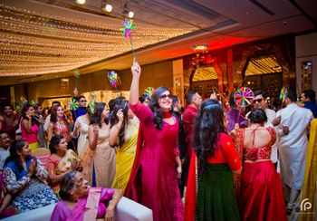 Photo of Paper Pinwheels for Guests during Sangeet