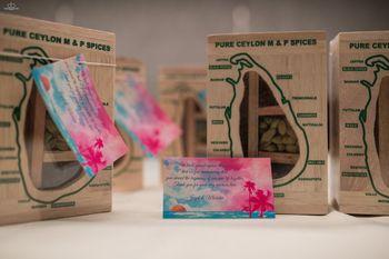 Wedding favour idea spice boxes