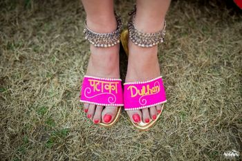 Photo of Customised bridal shoes for mehendi