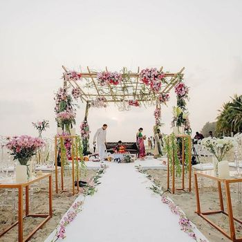 Photo of Unique mandap and aisle decor