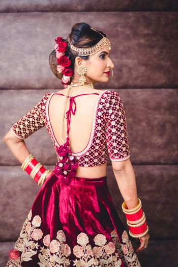 Bridal back blouse design