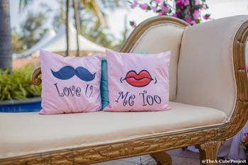 Mehendi decor with quirky cushions