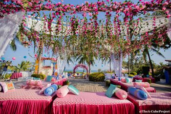 Bright Pink Wedding Decor Photo