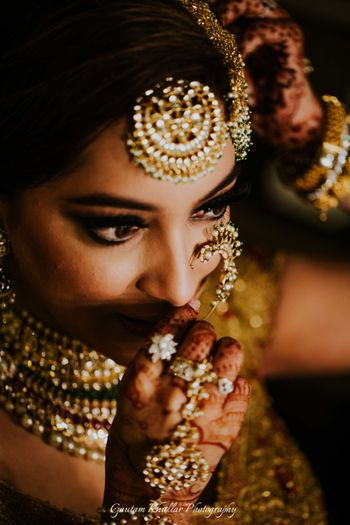 Bridal close up shot wearing jewellery