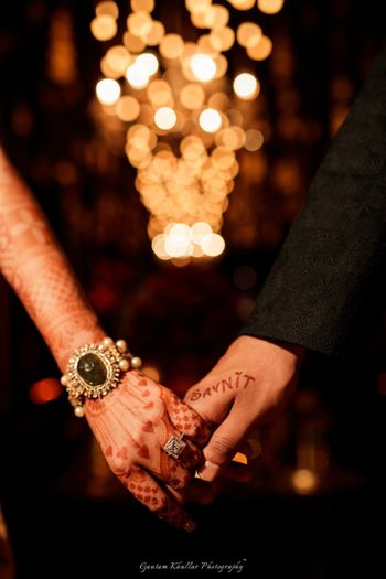 Bridal and groom hands photography