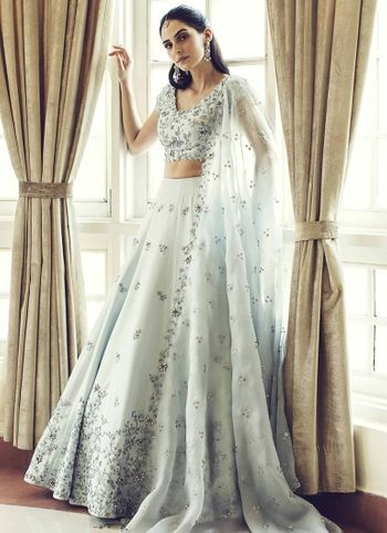 Sister of the bride lehenga with organza dupatta