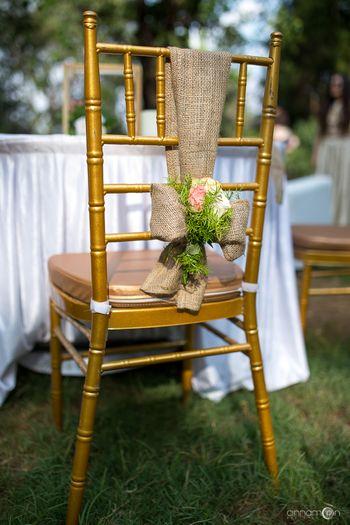 Photo of Rustic burlap chair decor ideas