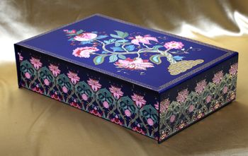 Photo of Blue reusable wedding invite box