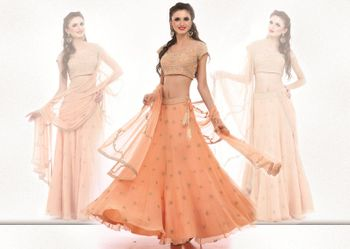 peach light lehenga