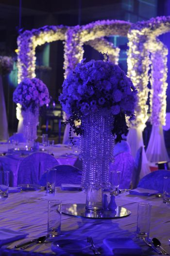 crystal hangings from flowers