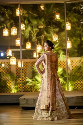 Photo of Engagement lehenga with keyhole back