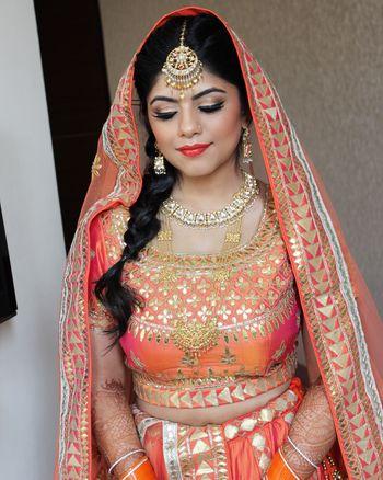 bride with braid