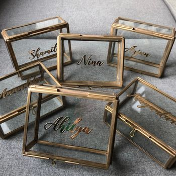 Photo of Personalised bridesmaid curio box