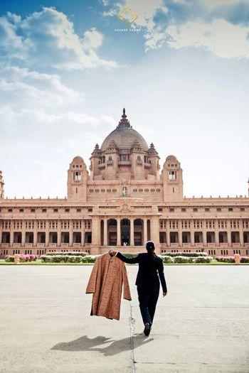 Sherwani photo against fort background