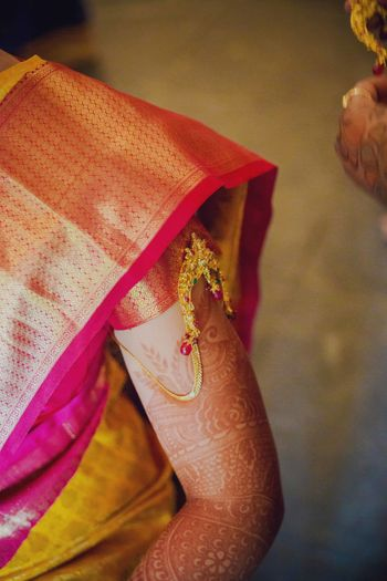 Gold armlet for South Indian bride