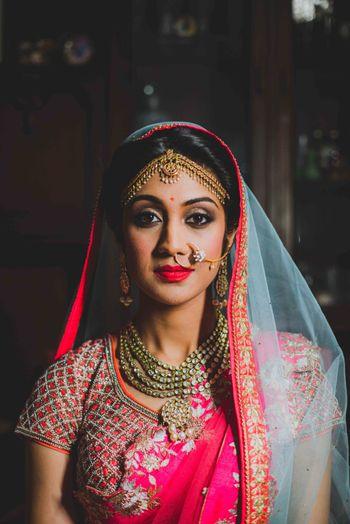 Dusky bridal makeup look