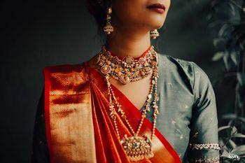 Unique bridal antique finish necklace