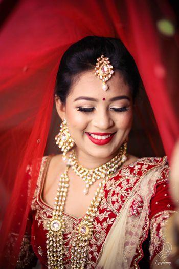 Shy bride bridal portrait