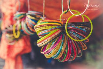 Pretty colorful hanging bangle decor for mehendi