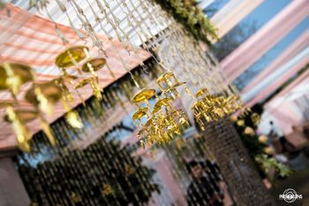 Photo of Hanging Floral with Gold Kaleere Decor