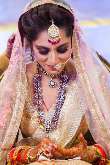 Plum bridal makeup smokey eye