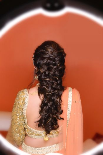 Sangeet and engagement hairdo