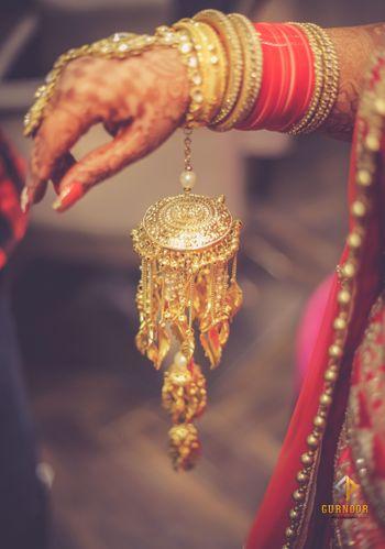 Unique bridal kaleera in gold