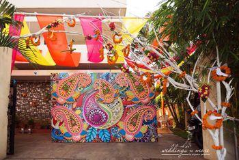 Photo of funky mehendi photo booth