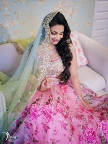 Photo of floral print lehenga