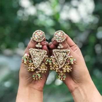 Gota earrings for mehendi jewellery