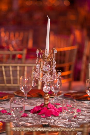 crystal table centerpiece