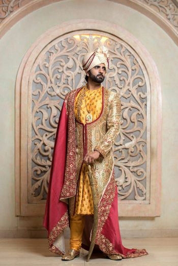 Unique groom sherwani with jacket