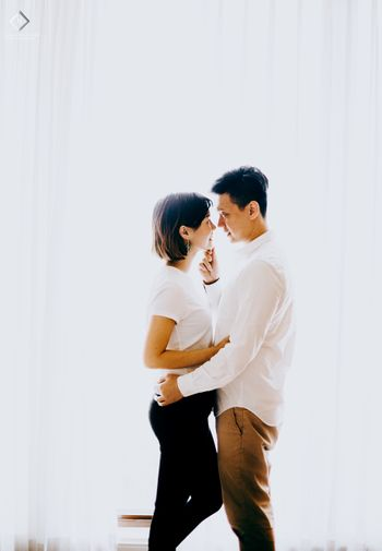 Intimate pre wedding shoot at home