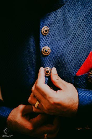Sherwani buttons in blue