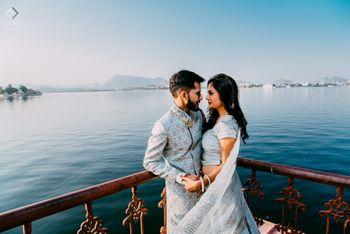 Destination engagement bride and groom shot