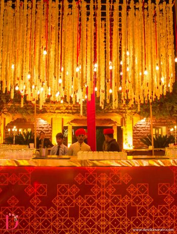 Photo of traditional red and gold theme