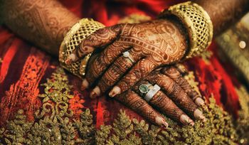 Photo of Bridal Hand Mehendi with Zardosi Work