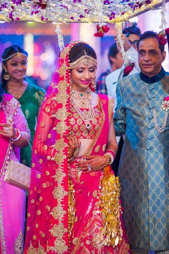 Photo of bride entering