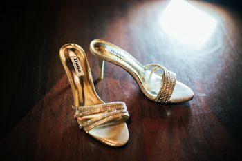 Gold and Diamond Bridal Shoes