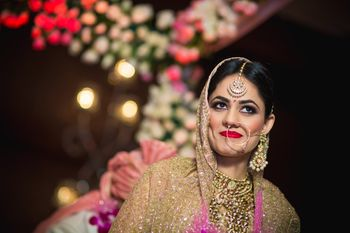 Photo of Candid Bride Smiling Shot