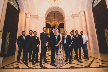 Couple Shot with Groom's Friends
