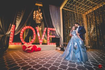 Sangeet photobooth giant love prop