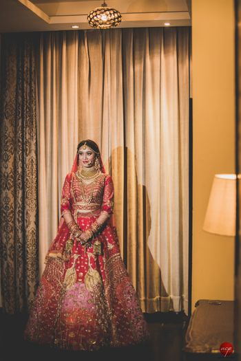 Offbeat bridal lehenga with patchwork