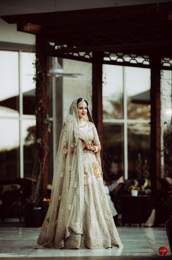 Gold bridal shimmery lehenga