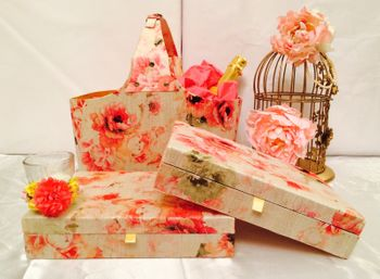 Photo of floral print packaging